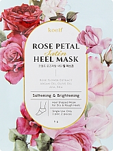Парфюмерия и Козметика Омекотяваща маска за пети - Petitfee&Koelf Rose Petal Satin Heel Mask