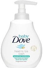 Парфюми, Парфюмерия, козметика Гел-шампоан за деца - Dove Baby Sensitive Moisture Head to Toe Wash
