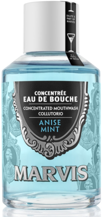Антибактериална вода за уста с анасон и мента - Marvis Concentrate Anise Mint Mouthwash