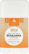 Парфюмерия и Козметика Дезодорант на базата на сода с аромат на ванилия и орхидея - Ben & Anna Natural Soda Deodorant Vanilla Orchid