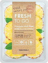 Парфюмерия и Козметика Освежаваща памучна маска за лице с ананас - Tony Moly Fresh To Go Mask Sheet Pineapple