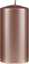 Парфюмерия и Козметика Декоративна седефена свещ, 14 см, розово-златна - Artman Opal Candle