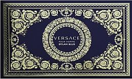 Парфюмерия и Козметика Versace Dylan Blue Pour Homme - Комплект (козм. чанта + тоал. вода/100ml + тоал. вода/10ml)