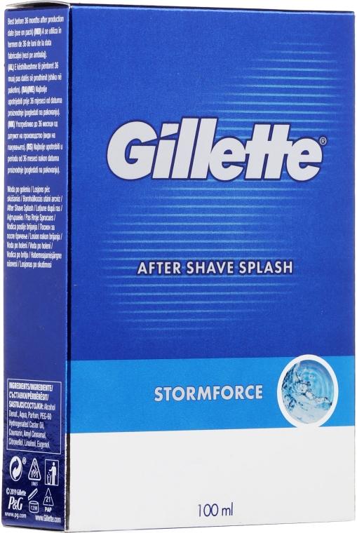 """Афтършейв """"Пикантен"""" - Gillette Blue Storm Force After Shave Splash"""