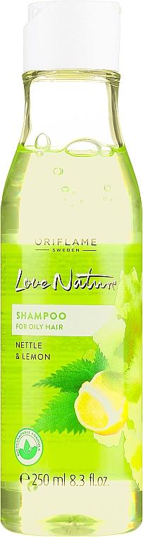"""Шампоан за мазна коса """"Коприва и лимон"""" - Oriflame Love Nature Shampoo — снимка N1"""