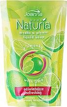 """Парфюмерия и Козметика Течен сапун """"Лайм"""" - Joanna Naturia Body Lime Liquid Soap (Refill)"""