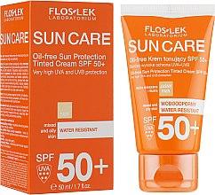 Парфюмерия и Козметика Слънцезащитен тонизиращ крем за комбинирана и мазна кожа SPF 50 - Floslek Sun Protection Cream SPF50+