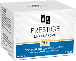 Парфюмерия и Козметика Дневен крем за лице - AA Prestige Lift Supreme Contouring Day Cream SPF 70+