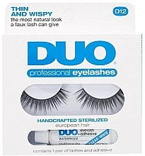 Парфюмерия и Козметика Комплект - Duo Lash Kit Professional Eyelashes Style D12 (glue/2,5g + eye/l2pcs)