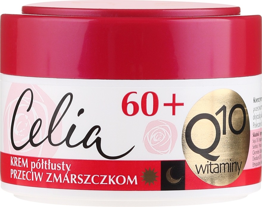 Антистареещ крем за лице - Celia Q10 Face Cream 60+