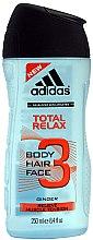 Парфюмерия и Козметика Душ гел 3в1 - Adidas Total Relax 3in1 Shower Gel