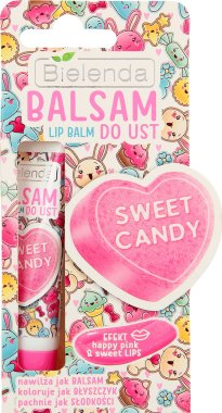 "Балсам за устни ""Сладки бонбони"" - Bielenda Sweet Candy Lip Balm"