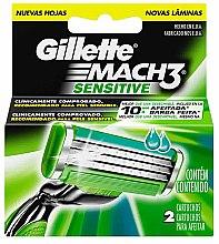 Парфюми, Парфюмерия, козметика Сменяеми ножчета за бръснене, 2 бр. - Gillette Mach3 Sensitive