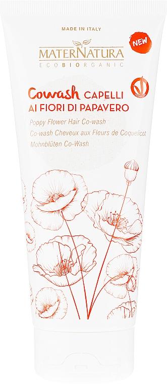 "Балсам за коса - MaterNatura ""Co-Wash"" Conditioner With Poppy Flower — снимка N1"