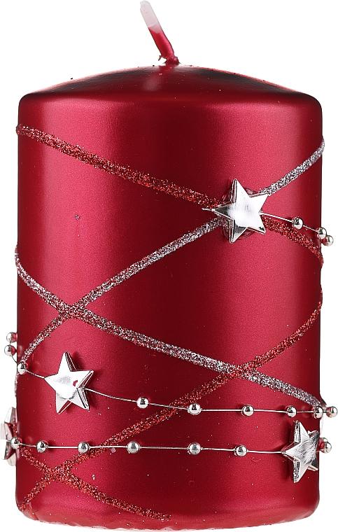 Декоративна свещ, червена, 11х7см - Artman Christmas Garland — снимка N1