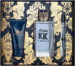 Парфюмерия и Козметика Dolce&Gabbana K by Dolce&Gabbana - Комплект (тоал.вода/100ml + душ гел/50ml + тоал.вода мини/10ml)