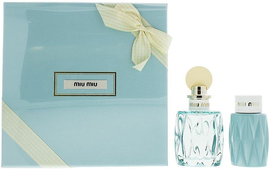 Miu Miu L'Eau Bleue - Комплект (парф. вода/100ml +лосион за тяло/100ml) — снимка N1