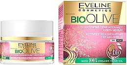 Парфюмерия и Козметика Активно подмладяващ крем-серум за лице - Eveline Cosmetics Bio Olive Actively Rejuvenating Cream-serum