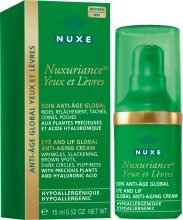 Парфюми, Парфюмерия, козметика Крем за контура на очите и устните - Nuxe Nuxuriance Eye And Lip Global Anti-Aging Cream