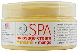 "Парфюми, Парфюмерия, козметика Масажен крем ""Мандарина и манго"" - BCL Spa Mandarin Mango Massage Cream"