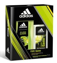 Парфюми, Парфюмерия, козметика Adidas Pure Game - Комплект (душ гел/150ml + парфюмен спрей/75ml)