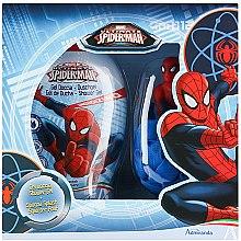 Парфюми, Парфюмерия, козметика Комплект душ гел и гъба за тяло - Admiranda Ultimate Spider-Man Gift Set (sh/gel/250ml + bath sponge)