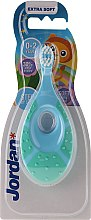 Парфюмерия и Козметика Детска четка за зъби, 0-2 год, светло синя - Jordan Step By Step Soft