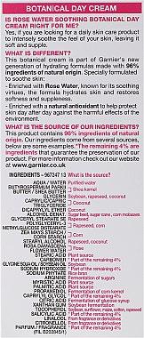Дневен крем за лице с розова вода - Garnier Botanical Day Cream with Rose Water — снимка N3