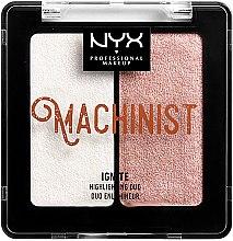 Парфюми, Парфюмерия, козметика Хайлайтър за лице - NYX Professional Makeup Machinist Highlighter Duo