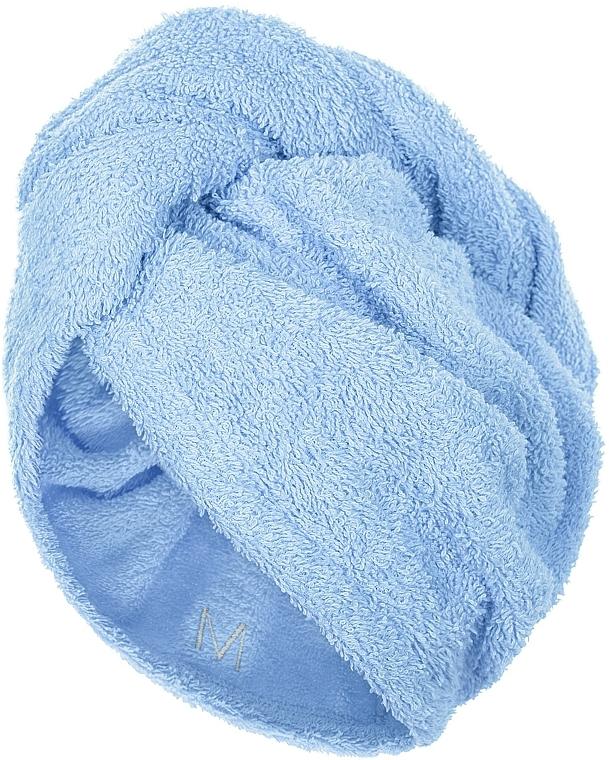 Кърпа-тюрбан за коса, синя - MakeUp