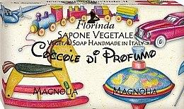 """Парфюмерия и Козметика Детски натурален сапун """"Магнолия"""" - Florinda Sapone Vegetale Magnolia Vegetal Soap Handmade"""