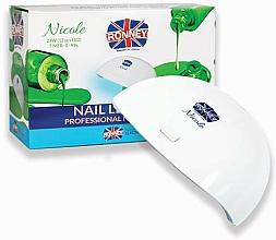 Парфюмерия и Козметика Лампа LED за нокти, бяла - Ronney Profesional Nicole LED 24 W RE 00049 Lamp