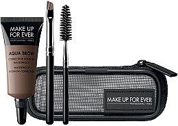 Парфюмерия и Козметика Комплект за грим - Make Up For Ever Aqua Brow Eyebrow Corrector Kit (коректор/7ml+четки/2бр+козм. несесер) (15 -Light Brown)