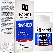 Парфюми, Парфюмерия, козметика Успокояващ крем за лице - AA Cosmetics Men derMed Anti-Redness Face Cream