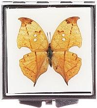 """Парфюми, Парфюмерия, козметика Компактно огледалце, """"Пеперуда"""" 85420, светло какфяво - Top Choice"""