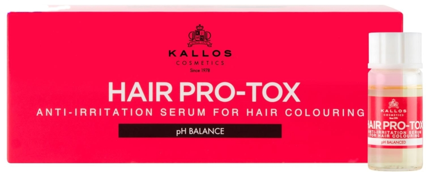 Успокояващ серум за боядисана коса - Kallos Cosmetics Hair Pro-Tox — снимка N1