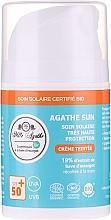 Парфюмерия и Козметика Слънцезащитен крем с екстракт от охлюв - Mlle Agathe Sun SPF 50+