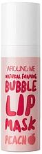 Парфюмерия и Козметика Кислородна маска за устни - Welcos Natural Foaming Bubble Lip Mask Peach