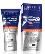Парфюми, Парфюмерия, козметика Овлажняващ крем-гел за лице - Eveline Cosmetics Men X-Treme Power Anti-Fatigue Moisturising Cream-Gel 6in1