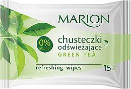 """Парфюми, Парфюмерия, козметика Освежаващи мокри кърпички """"Green Tea"""", 15бр - Marion"""