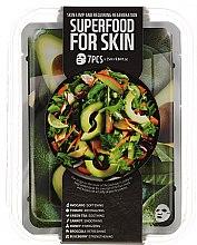 Парфюми, Парфюмерия, козметика Комплект памучни маски за лице - Superfood Salad For Skin Skin Limp And Requiring Regeneration(mask/7x25ml)