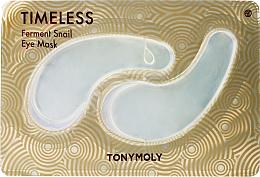 Парфюмерия и Козметика Хидрогелни пачове за очи със секрет от охлюв - Tony Moly Timeless Ferment Snail Eye Mask