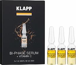 Парфюмерия и Козметика Двуфазен серум за лице с витамин С - Klapp Bi-Phase Serum Vitamin C