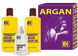 Парфюмерия и Козметика Комплект за коса - Brazil Keratin Therapy Argan (шампоан/300ml + балсам/300ml + масло/100ml)