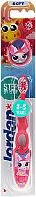 Парфюмерия и Козметика Детска четка за зъби Step 2 (3-5 год.) мека, розово-бяла - Jordan
