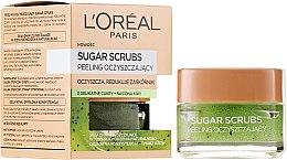 Парфюми, Парфюмерия, козметика Почистващ захарен скраб за лице - L'Oreal Paris Sugar Scrubs