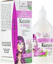 Парфюмерия и Козметика Укрепващ серум за коса против косопад с кератин и хинин - Bione Cosmetics Keratin + Quinine Stimulating Massaging Hair Serum