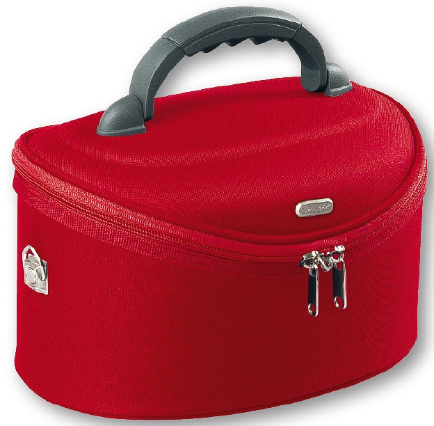 Козметична чанта , голяма овална 95085 , червена - Top Choice Oval Red