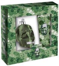 Парфюми, Парфюмерия, козметика Police To Be Camouflage - Комплект (тоал. вода/75ml + душ гел/100ml)