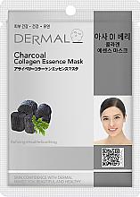 Парфюми, Парфюмерия, козметика Маска за лице с колаген и активен въглен - Dermal Charcoal Collagen Essence Mask